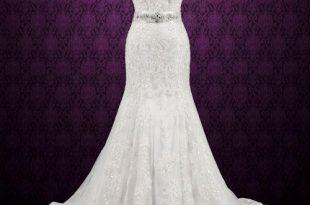 Vintage Style Lace Keyhole Back Wedding Dress | Aud