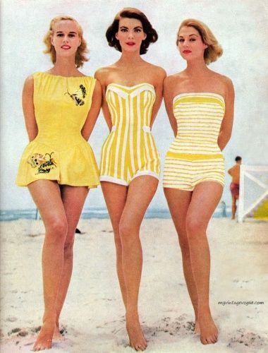 1950s Bathing Suit Pictures | Vintage swimsuits, Swimwear fashion .