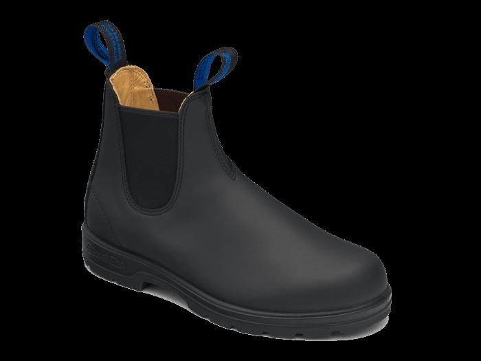Black Premium Waterproof Leather Chelsea Boots, Women's Style 566 .