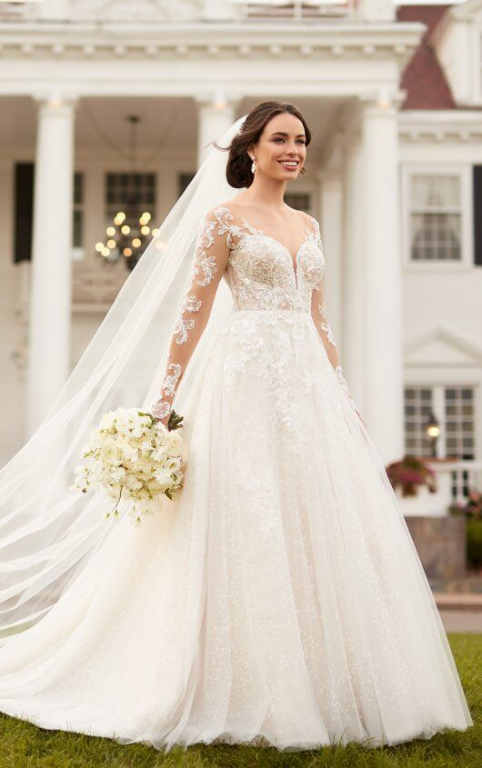 Long Sleeve Wedding Dresses - Gowns with Sleeves | Essense of .