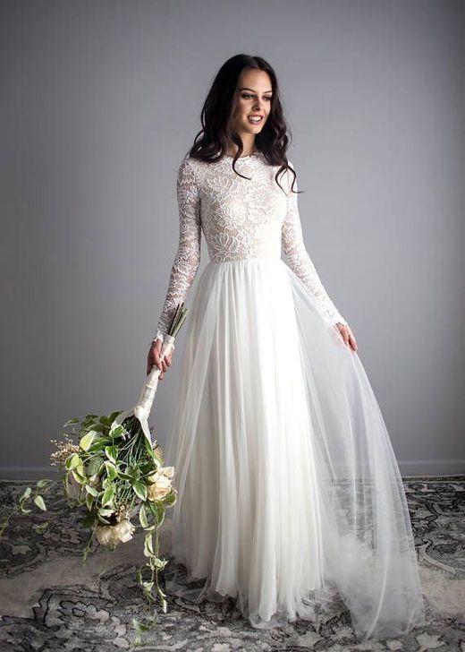 Nice 37 Stunning Long Sleeve Wedding Dresses Ideas. More at https .