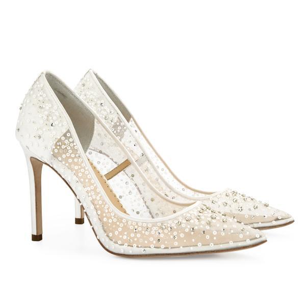 Elsa Luxury Sequin Ivory Wedding Shoes   Bella Belle Sho