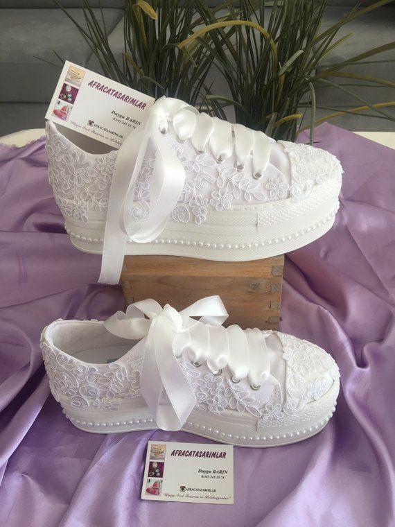Wedding Shoes, Lace Sports Shoes, Patform Shoes, Bridal , Wedding .