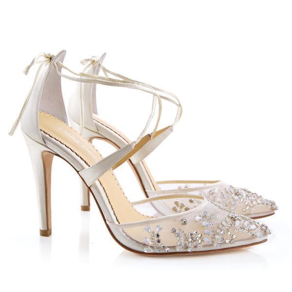 Florence Luxury Jewel Ivory Wedding Shoes | Bella Belle Sho