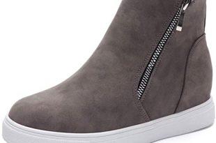 Amazon.com | Xiakolaka Women Wedge Sneakers Hidden Wedge Heel .