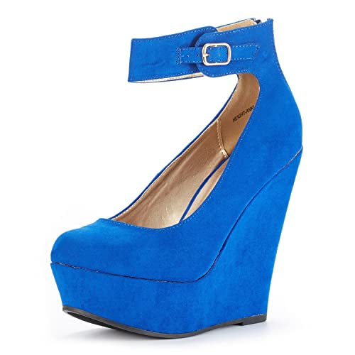 Blue Wedges Heels: Amazon.c