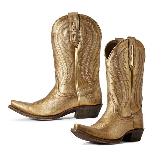 Ariat Women's Tailgate Distressed Gold Western Boo
