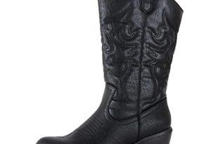 Women's Black Cowboy Boots: Amazon.c
