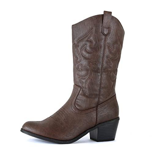 Women's Brown Cowboy Boots: Amazon.c