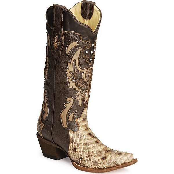 Corral Women's Python Cross Cowboy Boots - Snip Toe featuring .