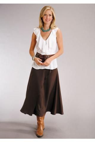 Western Wear Skirts for Women | women s skirts brown 6836 poly .