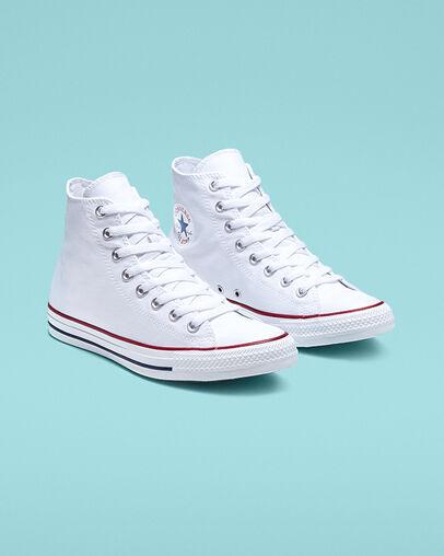 Women's White Converse: Low & High Top. Converse.c