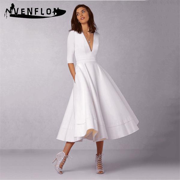 Vintage Spring Summer Dress Women 2019 Casual Plus Size Elegant .