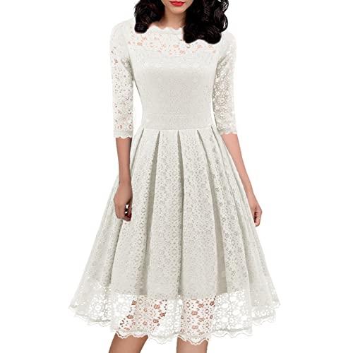 Womens White Dresses for Church: Amazon.c