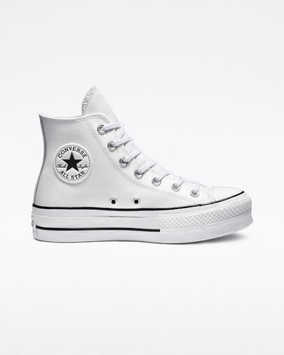Converse Chuck Taylor All Star Platform Clean Leather High Top .