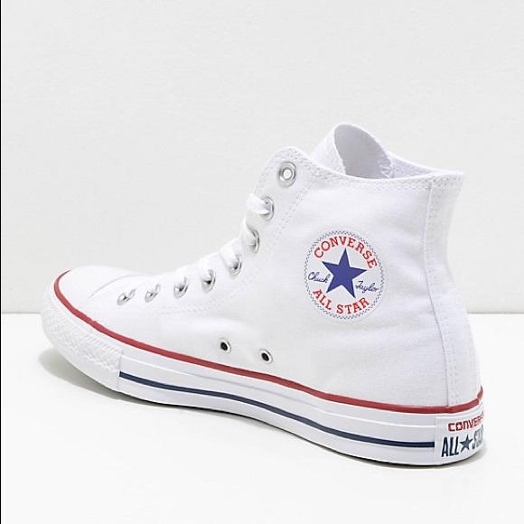Converse Shoes | White High Top | Poshma