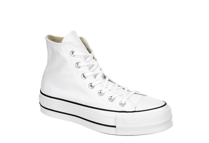White Converse Womens Chuck Taylor All Star High Top Lift Sneaker .