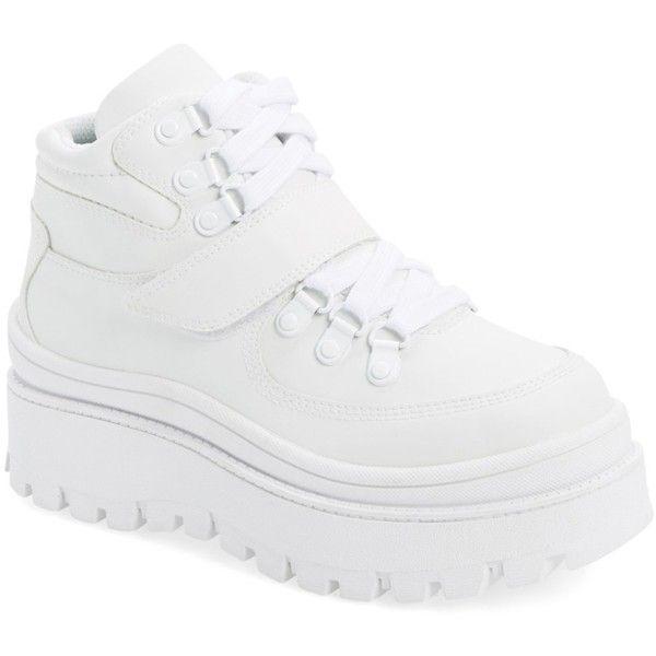 Jeffrey Campbell Top-Peak Platform Sneaker ($47) ❤ liked on .