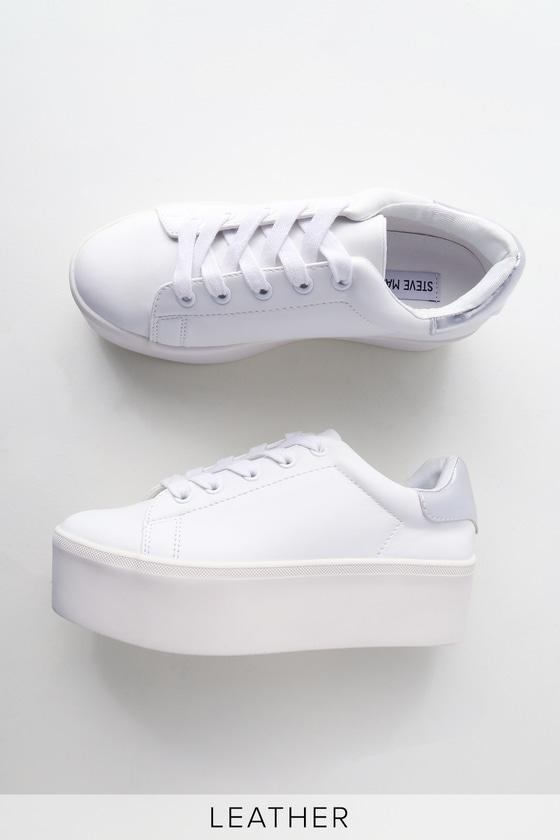 Steve Madden Palmer - White Sneakers - Platform Sneake