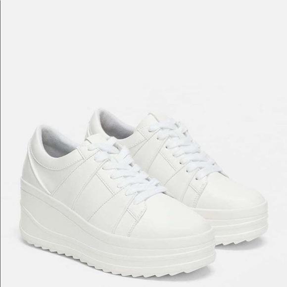 Zara Shoes | White Platform Sneakers | Poshma