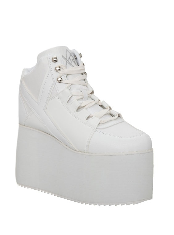 YRU Qozmo Hi-White Platform Sneake