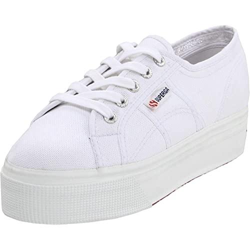Women's White Platform Sneakers: Amazon.c