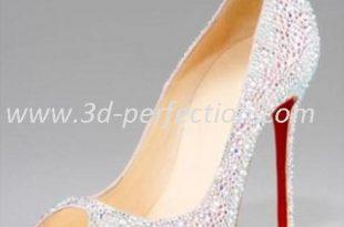 Christian Louboutin White Wedding Shoes 3d-perfection.c