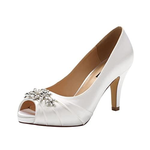 White Wedding Shoes for Bride: Amazon.c