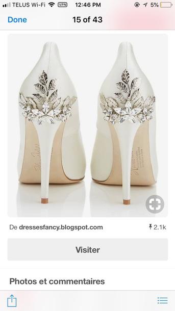shoes, wedding shoes, white wedding shoes, fancy - Wheretog