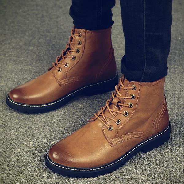 Warm Men Winter Boots For Man Warm Waterproof Rain Boots Shoes .
