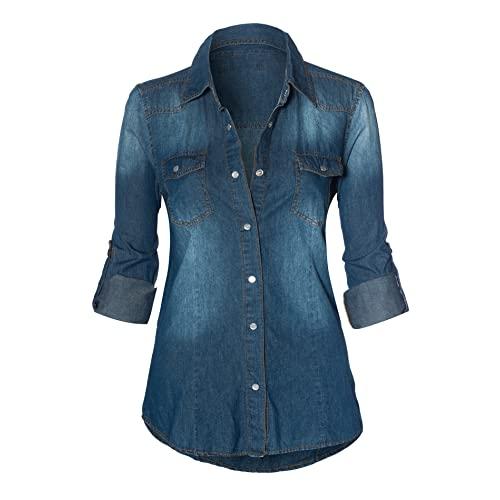 Women's Denim Shirt: Amazon.c