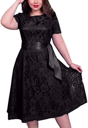 Amazon.com: memorytime Women Dresses, Solid Color Plus Size Lace .