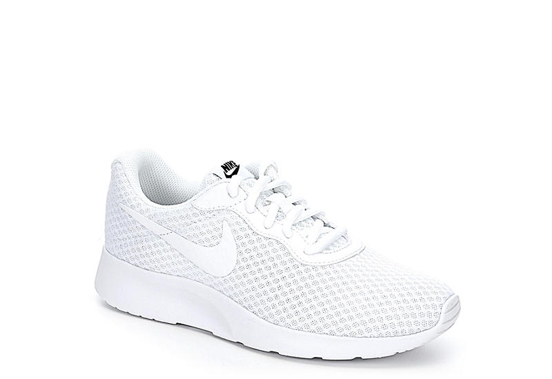 All White Women's Nike Tanjun Running Sneakers | Rack Room Sho