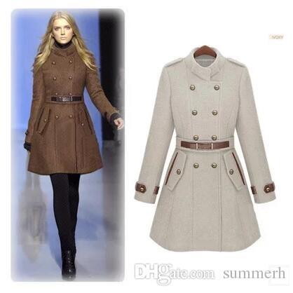2020 2017 New Monde Slim Womens Coats Womens Trench Coats Womens .