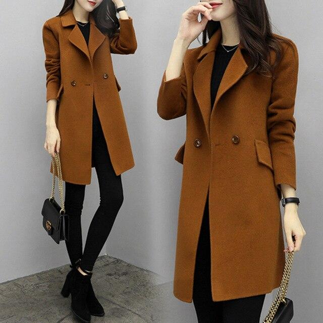 2019 New Style Women's Coat-Dark Brown - Womens Coat,Reflective Ve