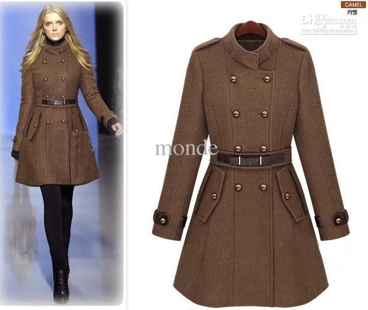 2020 2013 New Monde Slim Womens Coats Womens Trench Coats Womens .