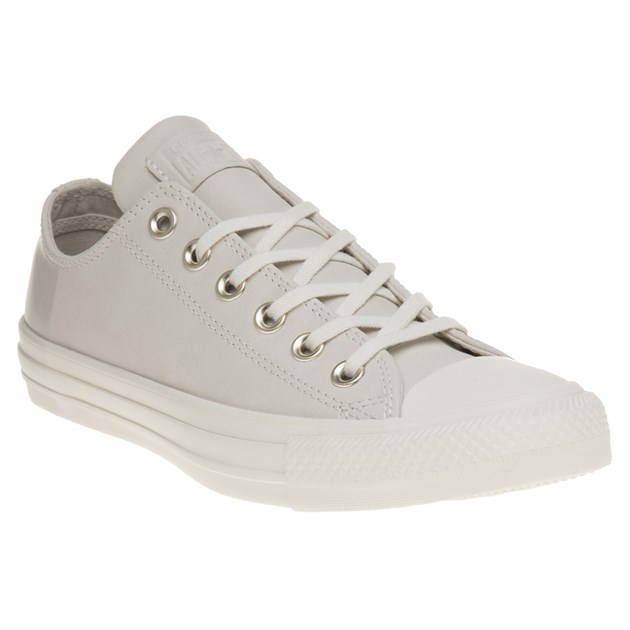 New WOMENS CONVERSE NATURAL ALL STAR OX LEATHER Sneakers CANVAS   eB