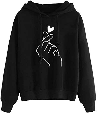 Amazon.com: Lovor Womens Hoodies Sale Long Sleeve Sweet Finger .