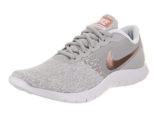 NIKE Women's Flex Contact Running Shoe Wolf Grey/Metallic Rose .