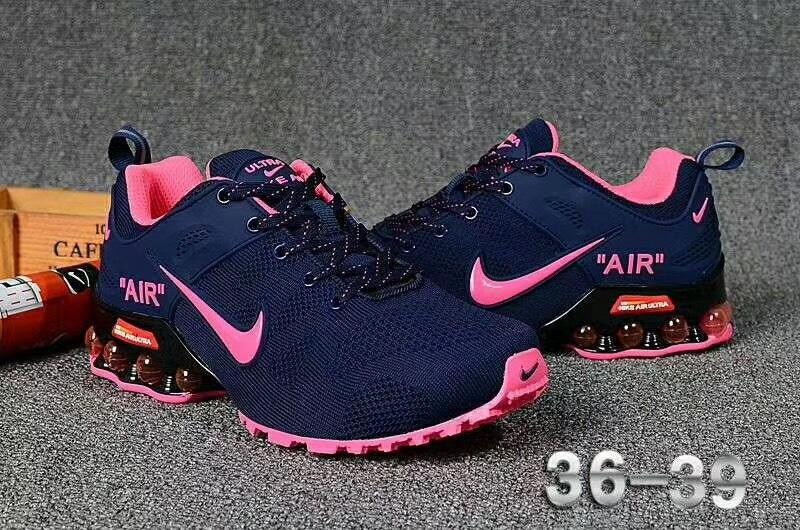 Women's Nike Air Shox Ultra 2019 Navy Blue Pink Girls Running .