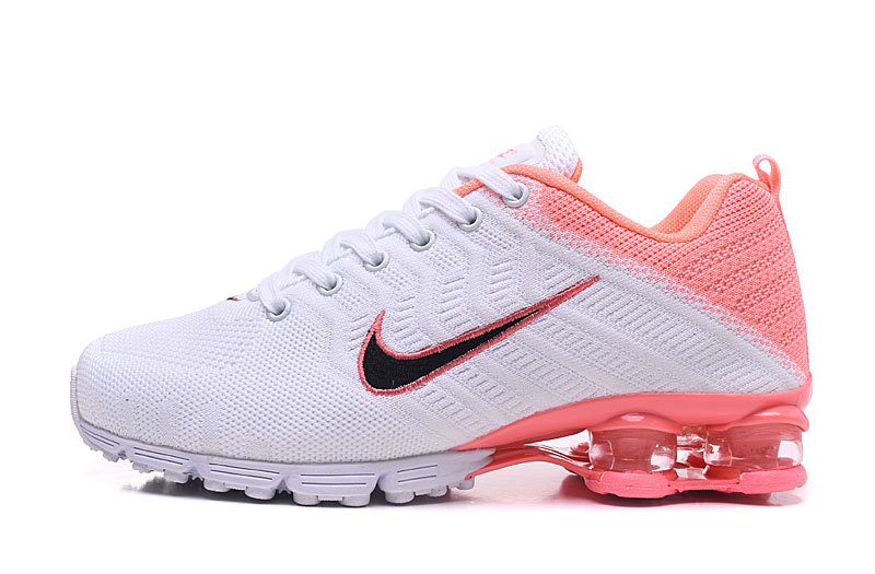 Nike Air Shox Flyknit White Pink Black Womens Running Shoes Shox .