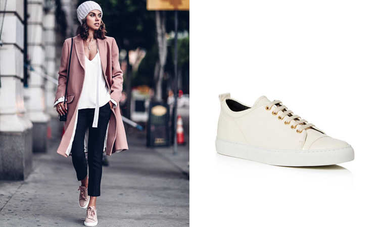 The Lanvin Womens Sneakers Everyone is Wearing at New York Fashion .