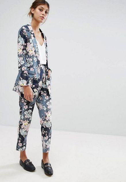 Womens suit prom 53 ideas   Suits for women, Womens floral suit .