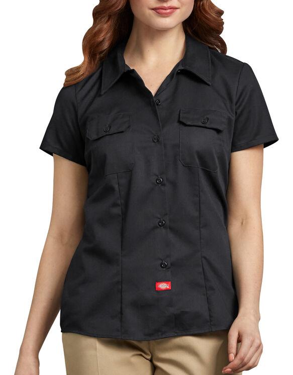 Women's Short Sleeve Work Shirt | Womens Tops | Dicki