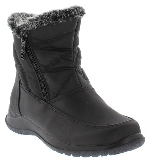 Dalia Women's Winter Boots | Faux Fur Lined Comfy Waterproof Snow .
