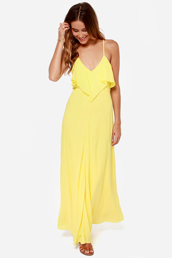 Cute Yellow Dress - Maxi Dress - $45.
