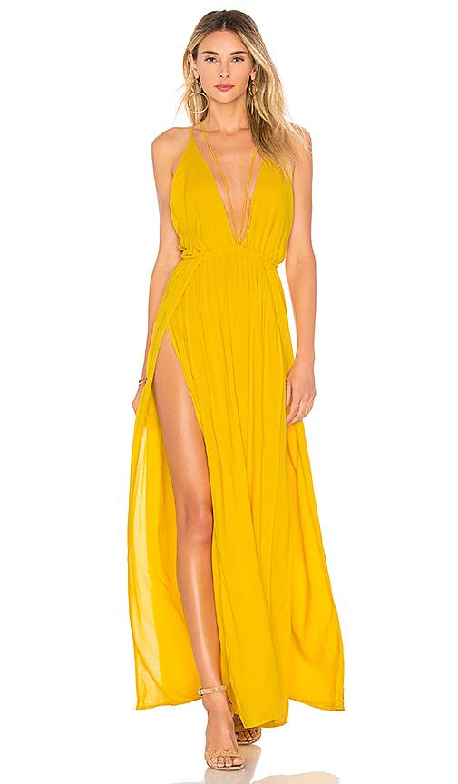 Indah Revival Maxi Dress in Sun   REVOL
