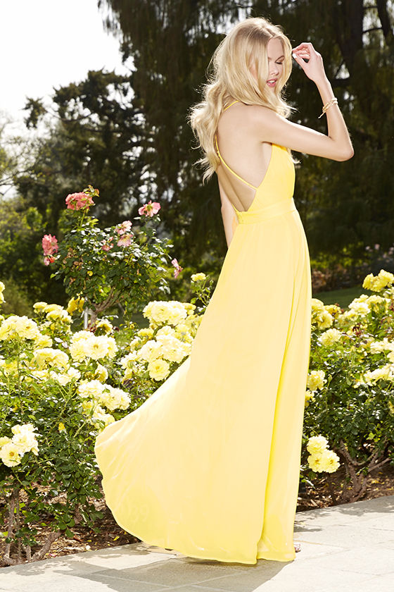 Lovely Yellow Dress - Maxi Dress - Yellow Gown - $148.