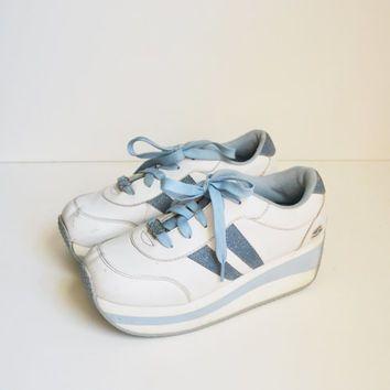 90 Vintage zapatillas Skechers Plataforma tenis de las zapatillas .